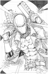 The Red Hood - BW Drawing